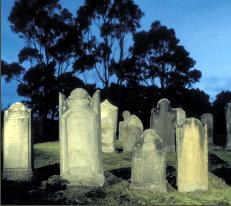 The Isle of the Dead - The small island off Port Arthur, originally called Opossum Island,was selected as a burial place by the Rev. John Manton in 1833.