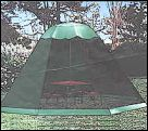 Umbrella tent which fits snugly over your shade umbrella. This particular one available from WA Show Pet Supplies